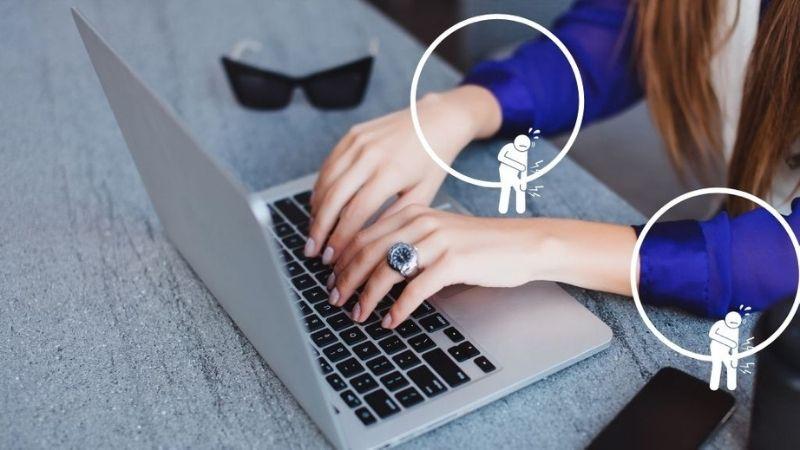 ノートパソコンで肘が痛くなる